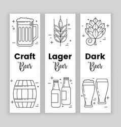 craft beer set of banners vector image