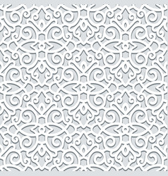 curly seamless pattern in neutral color vector image