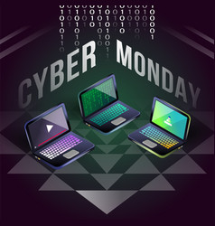 cyber monday laptop sale on yantra field vector image