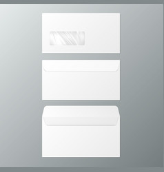 Dl envelopes front and back view open and close vector