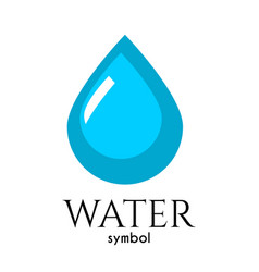 Drop of water symbol of life and purity vector