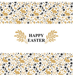 easter symbols greeting card vector image