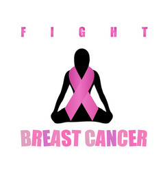 Empowering women to fight breast cancer vector