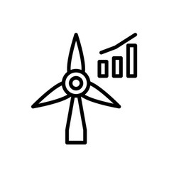 Energy investment icon vector