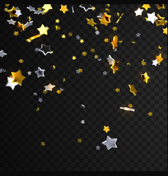 Falling golden and silver stars vector