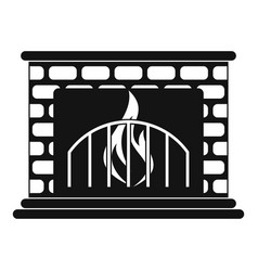fireplace icon simple style vector image