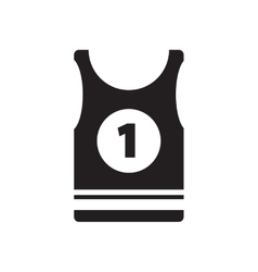 Flat icon in black and white shirt vector
