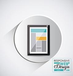 Gadget design vector image
