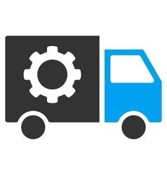 Gear Tools Delivery Car Flat Icon vector image