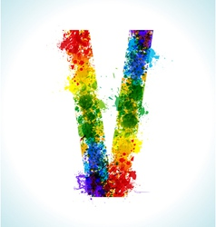 Gradient splashes font vector