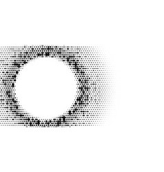grange halftone texture of black and white dots vector image