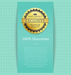 Guarantee best choice exclusive premium quality vector