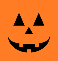 halloween pumpkin smile vector image