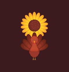 happy thanksgiving design vector image