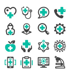 healthcare icon vector image