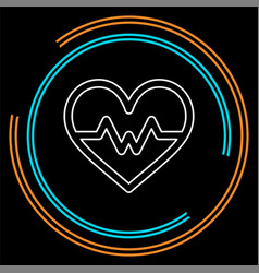 heartbeat icon health monitor health care vector image