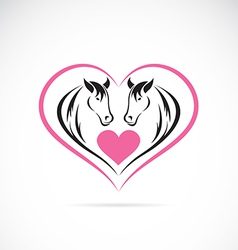 Horse and Heart vector