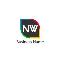 Initial letter nw logo template design vector