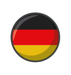 Isolated germany flag icon block design vector