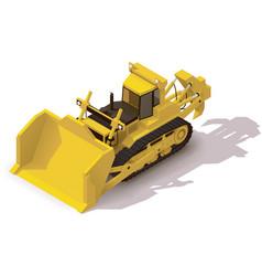 Isometric mining bulldozer vector
