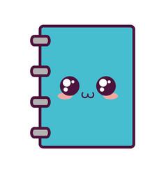 Kawaii notebook icon image vector