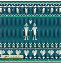 Knitting pattern sweater green t 5rttt vector