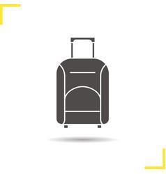 luggage suitcase on wheels icon vector image