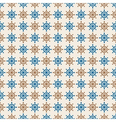 marine seamless pattern of hand wheels vector image