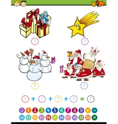 math game cartoon vector image