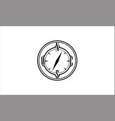 Minimalist modern compass logo template vector