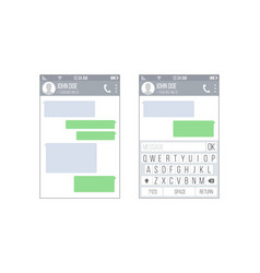 mobile ui kit messenger chat app design vector image