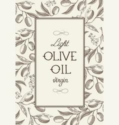 natural vintage floral sketch poster vector image