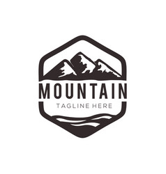 panorama mountain landscape logo and icon design vector image