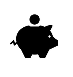 piggy bank or moneybox glyph icon vector image