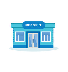 Post office building outdoor interior of house vector