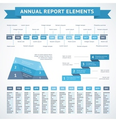 Presentation infographics charts for finance vector