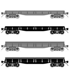 Railway platform vector