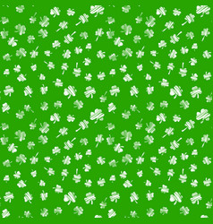 saint patrick day seamless background with clover vector image