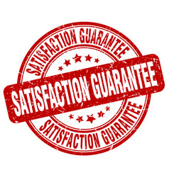 Satisfaction guarantee red grunge stamp vector