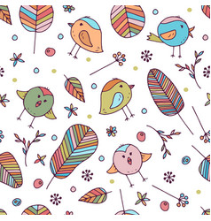 seamless floral pattern for kids vector image