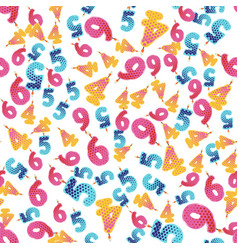 seamless pattern colorful birthday candles vector image