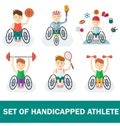 set of handicapped athlete vector image