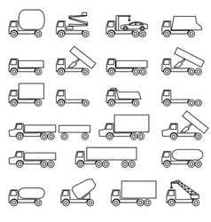 Set of icons - transportation symbols vector image vector image