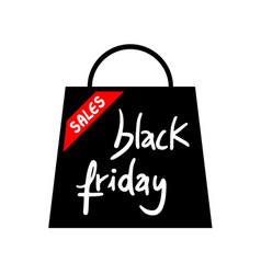 shop bag black friday icon vector image