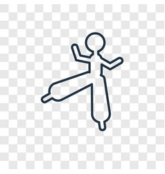 stilt walker man concept linear icon isolated on vector image