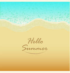 summer background with hello text vector image