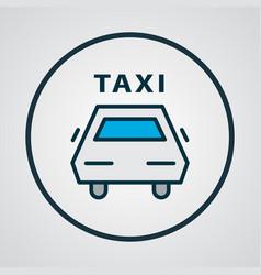taxi icon colored line symbol premium quality vector image