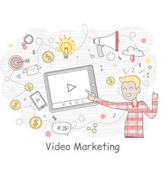 Video marketing business design flat vector