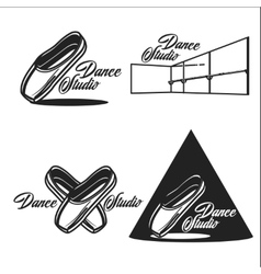 Vintage dance studio emblems vector