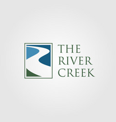 vintage river creek logo designs vector image
